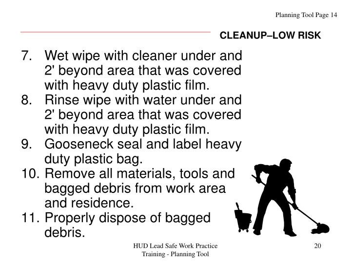CLEANUP–LOW RISK