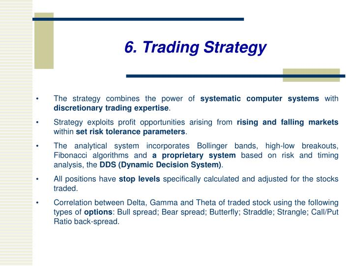 6. Trading Strategy