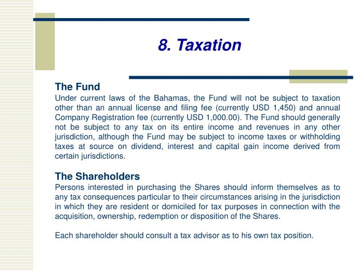 8. Taxation