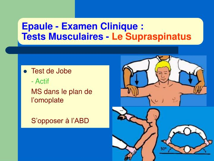 Epaule - Examen Clinique :