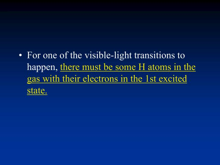 For one of the visible-light transitions to happen,