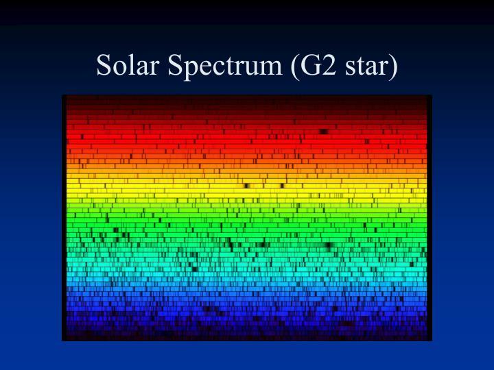Solar Spectrum (G2 star)