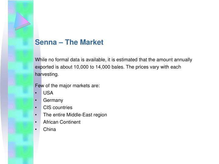 Senna – The Market