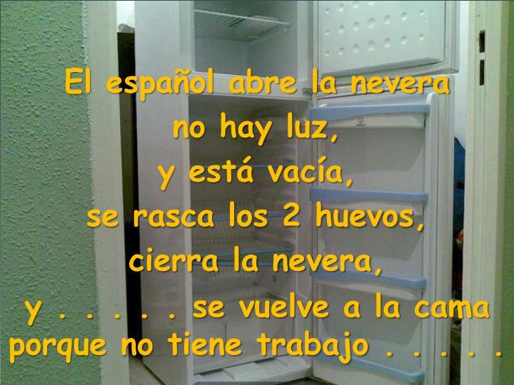 El español abre la nevera