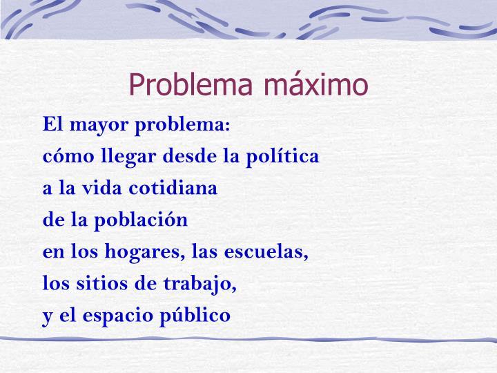 Problema máximo