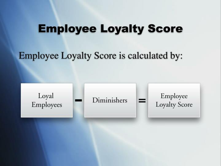 Employee Loyalty Score
