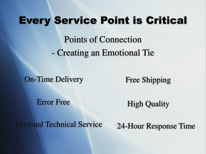 Every Service Point is Critical