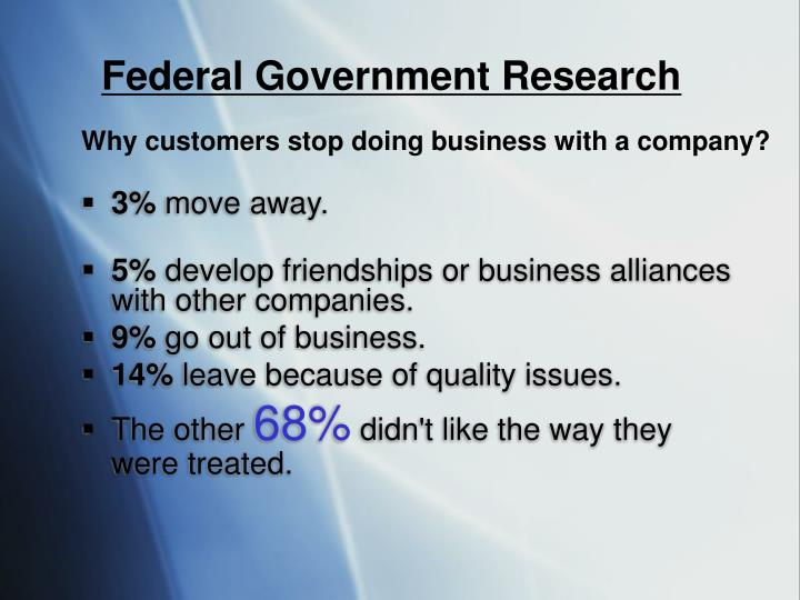Federal Government Research