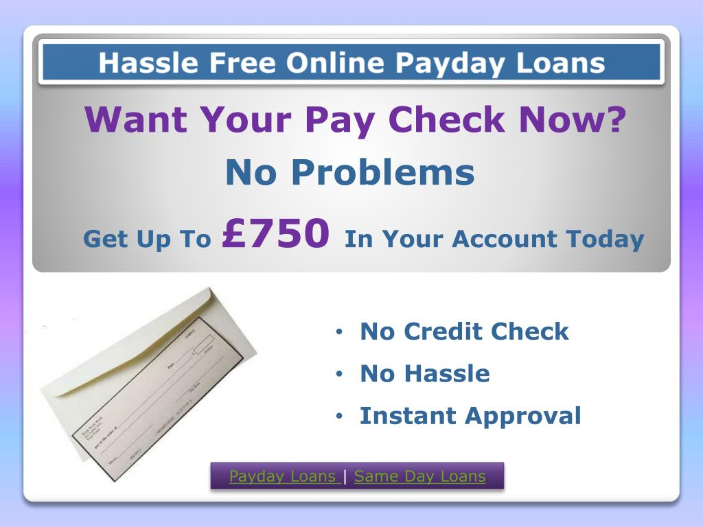 Hassle Free Online Payday Loans