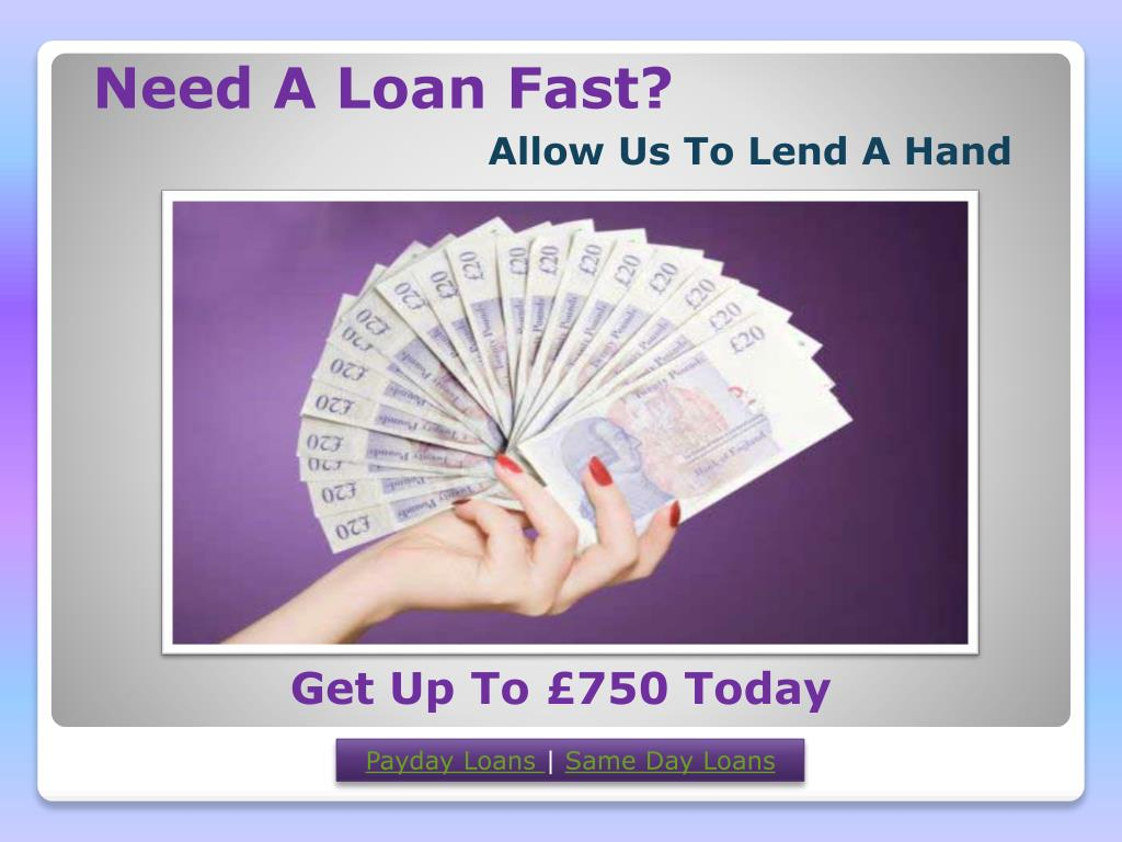 Need A Loan Fast?