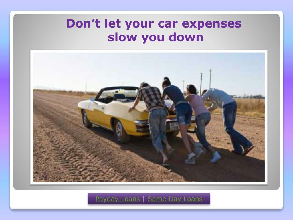 Don't let your car expenses
