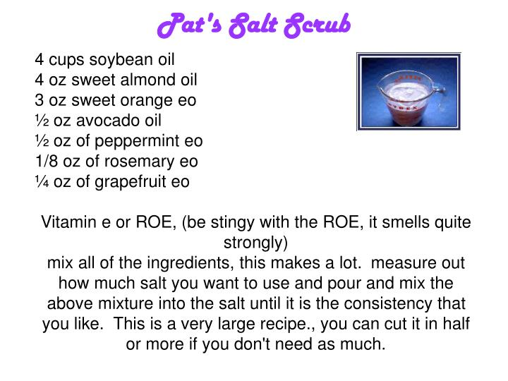 Pat's Salt Scrub