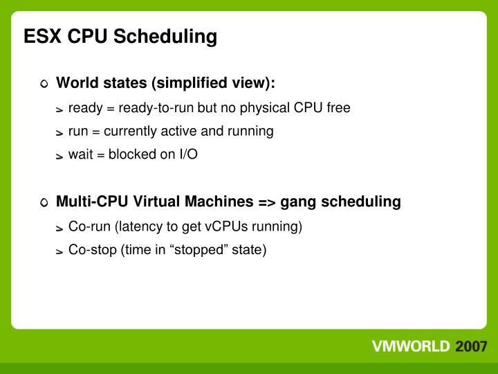 ESX CPU Scheduling