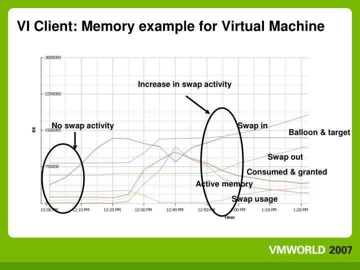 VI Client: Memory example for Virtual Machine