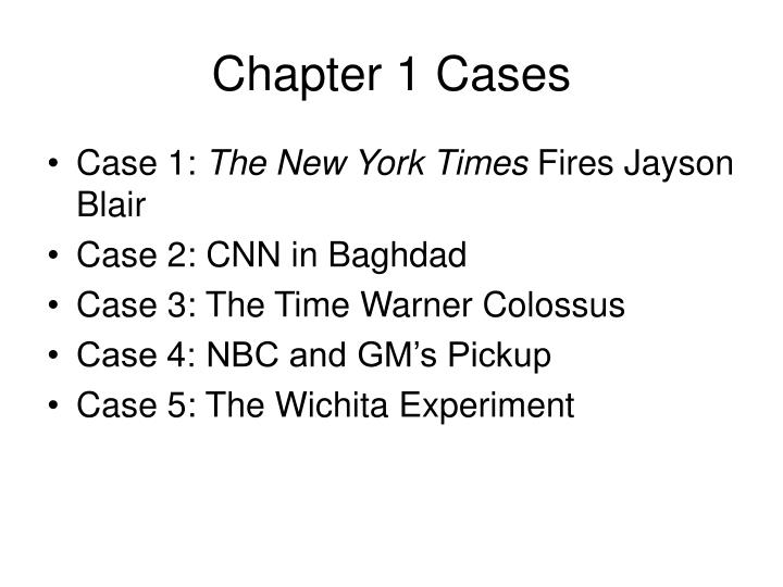 Chapter 1 Cases