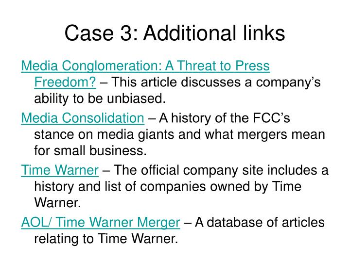 Case 3: Additional links