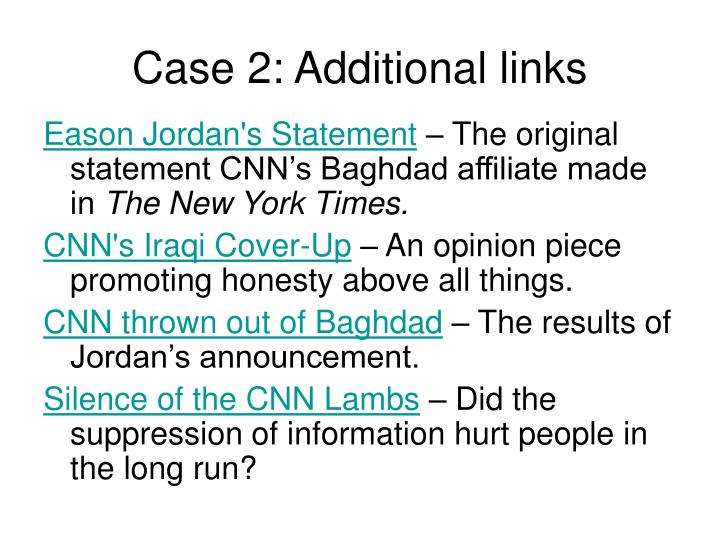 Case 2: Additional links