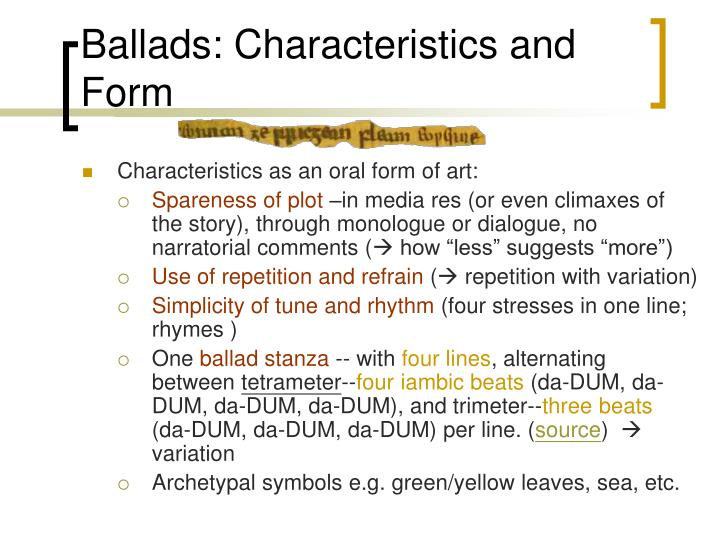 Characteristics Of Line In Art : Ppt medieval ballads its intensity and blank spaces for