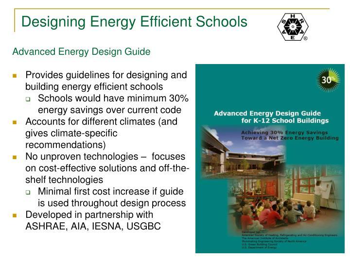 Designing Energy Efficient Schools