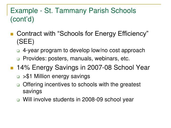 Example - St. Tammany Parish Schools (cont'd)