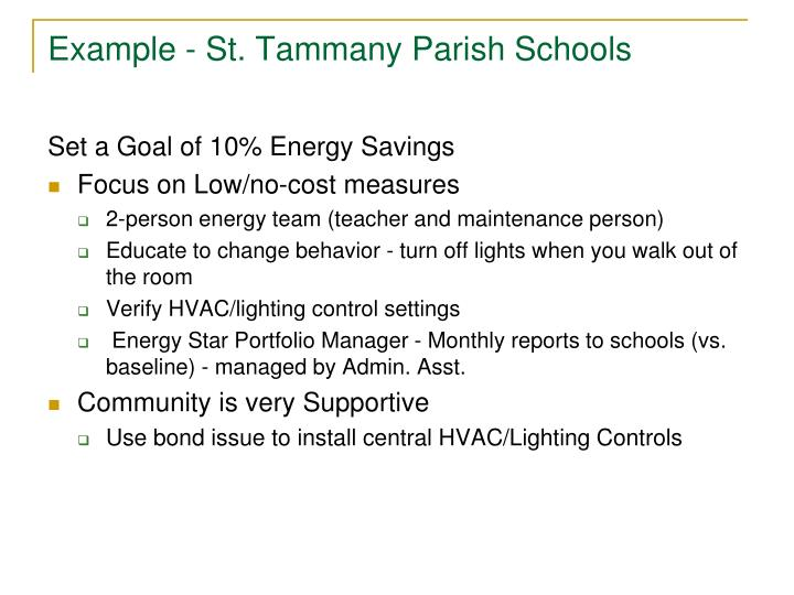 Example - St. Tammany Parish Schools