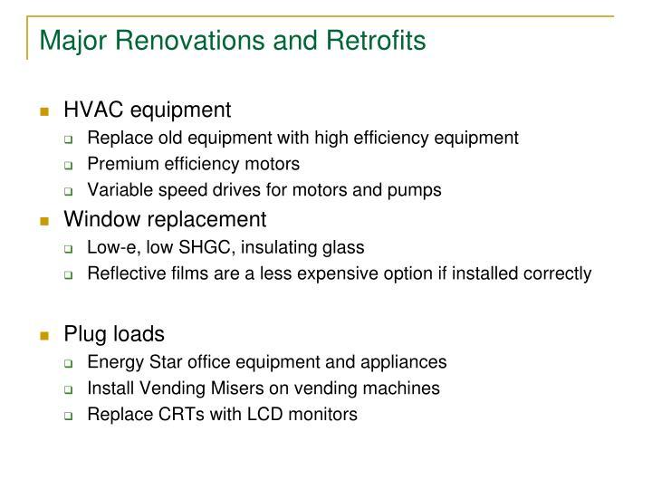 Major Renovations and Retrofits