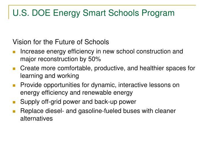 U.S. DOE Energy Smart Schools Program