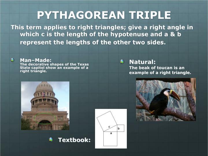 PYTHAGOREAN TRIPLE