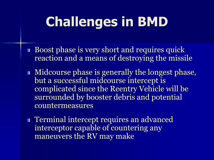 Challenges in BMD