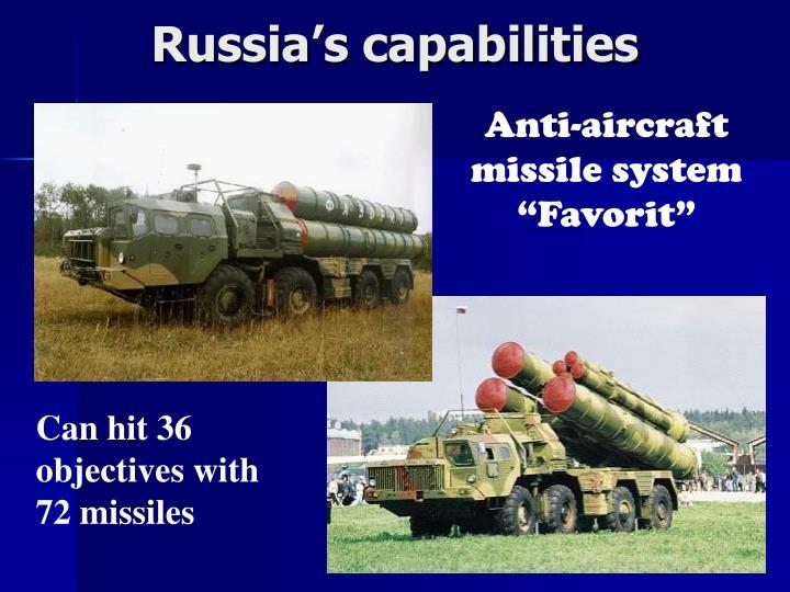 Russia's capabilities