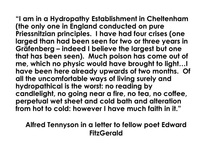Alfred Tennyson in a letter to fellow poet Edward FitzGerald
