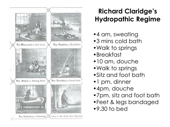 Richard Claridge's Hydropathic Regime