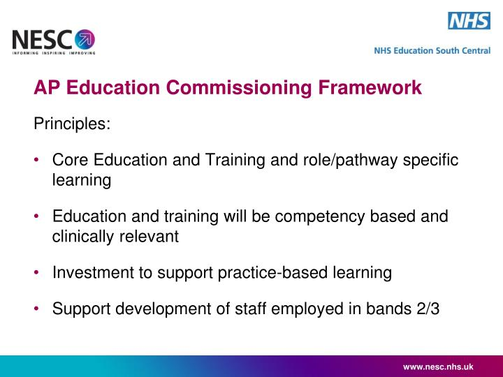 AP Education Commissioning Framework