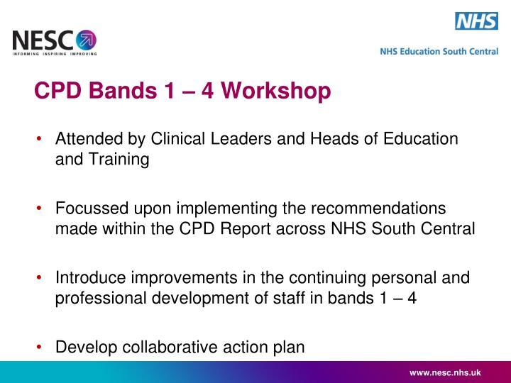 CPD Bands 1 – 4 Workshop
