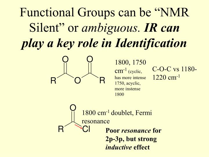 """Functional Groups can be """"NMR Silent"""" or"""