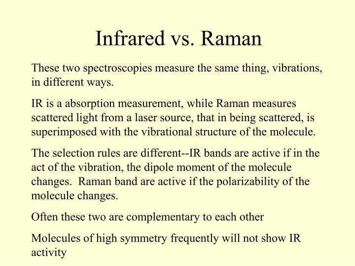 Infrared vs. Raman