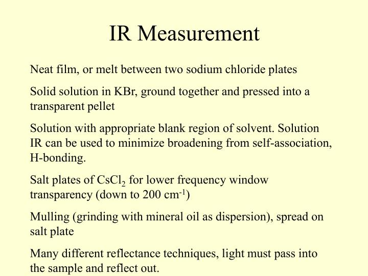 IR Measurement