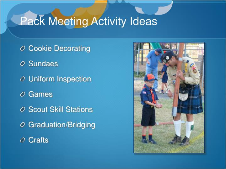 Pack Meeting Activity Ideas