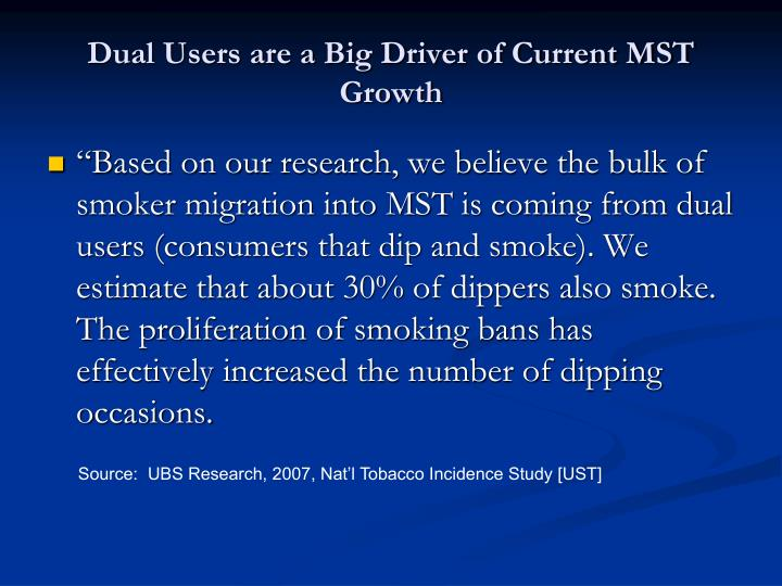 Dual Users are a Big Driver of Current MST Growth