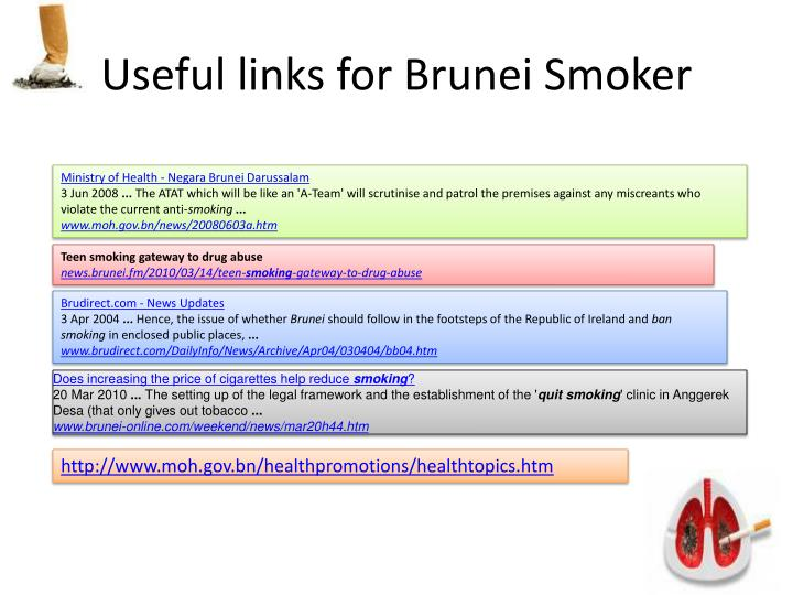 Useful links for Brunei Smoker