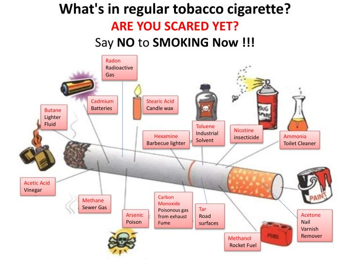 What's in regular tobacco cigarette?