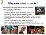 why people start to smoke