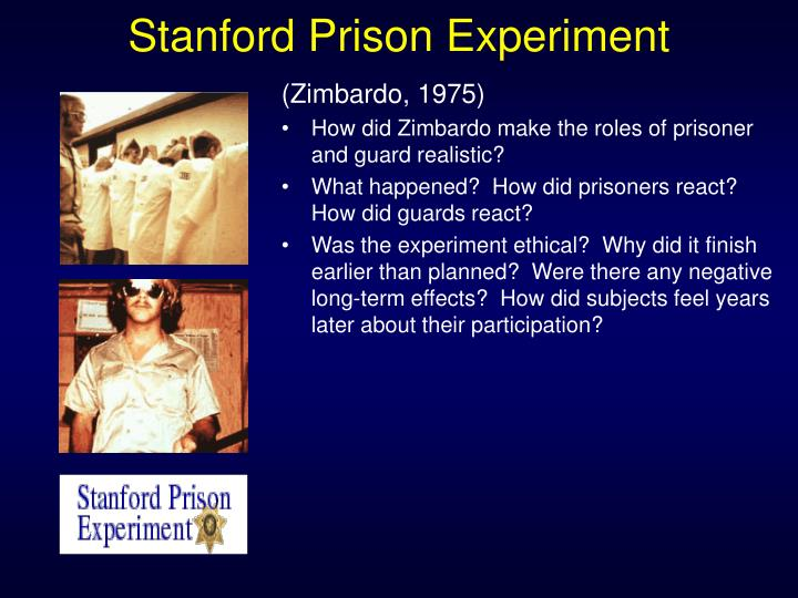 """stanford prison experiment and obedience Milgram and zimbardo: creative evil rather than  of """"obedience to authority  awry, """"the stanford prison experiment was supposed to last two."""