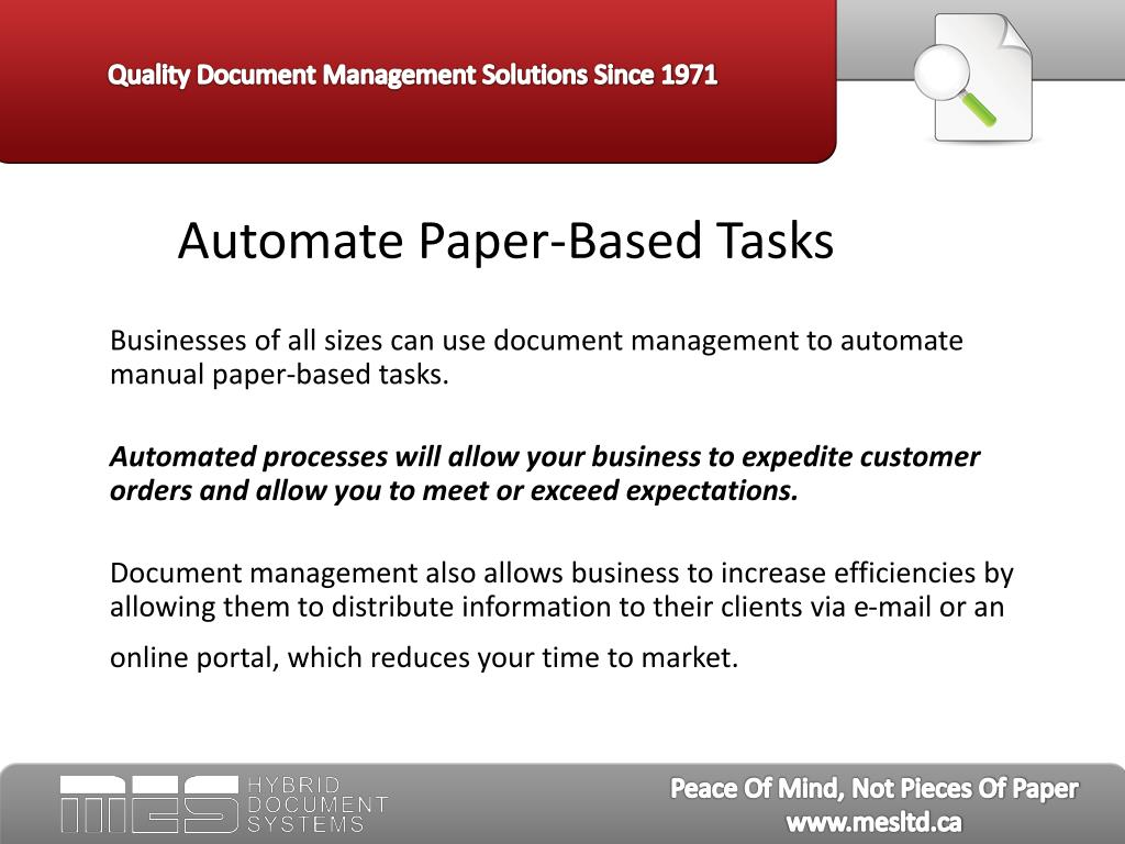 Automate Paper-Based Tasks