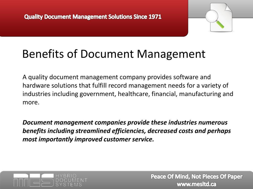 Benefits of Document Management