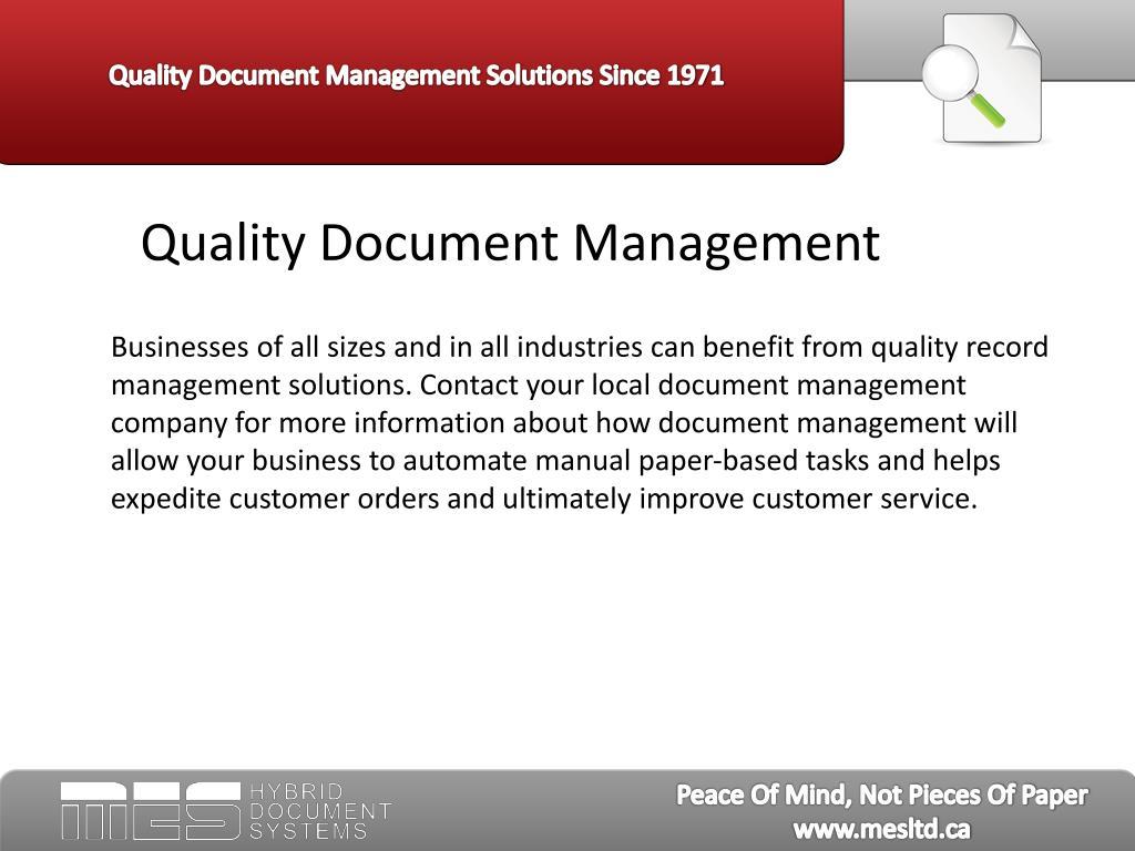 Quality Document Management
