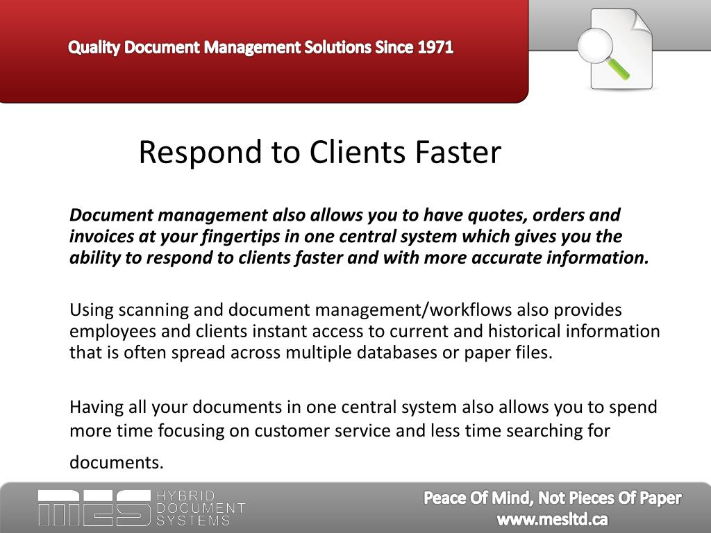 Respond to Clients Faster