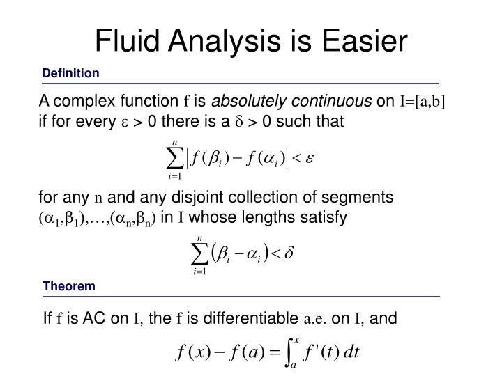 Fluid Analysis
