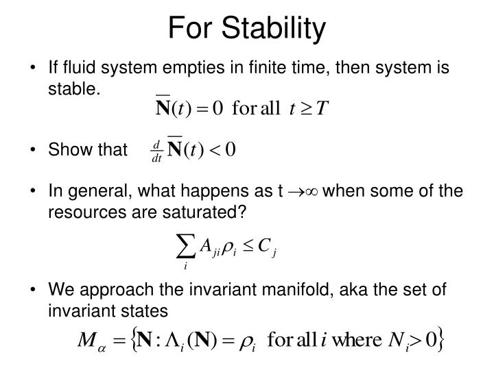 For Stability