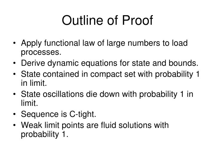 Outline of Proof